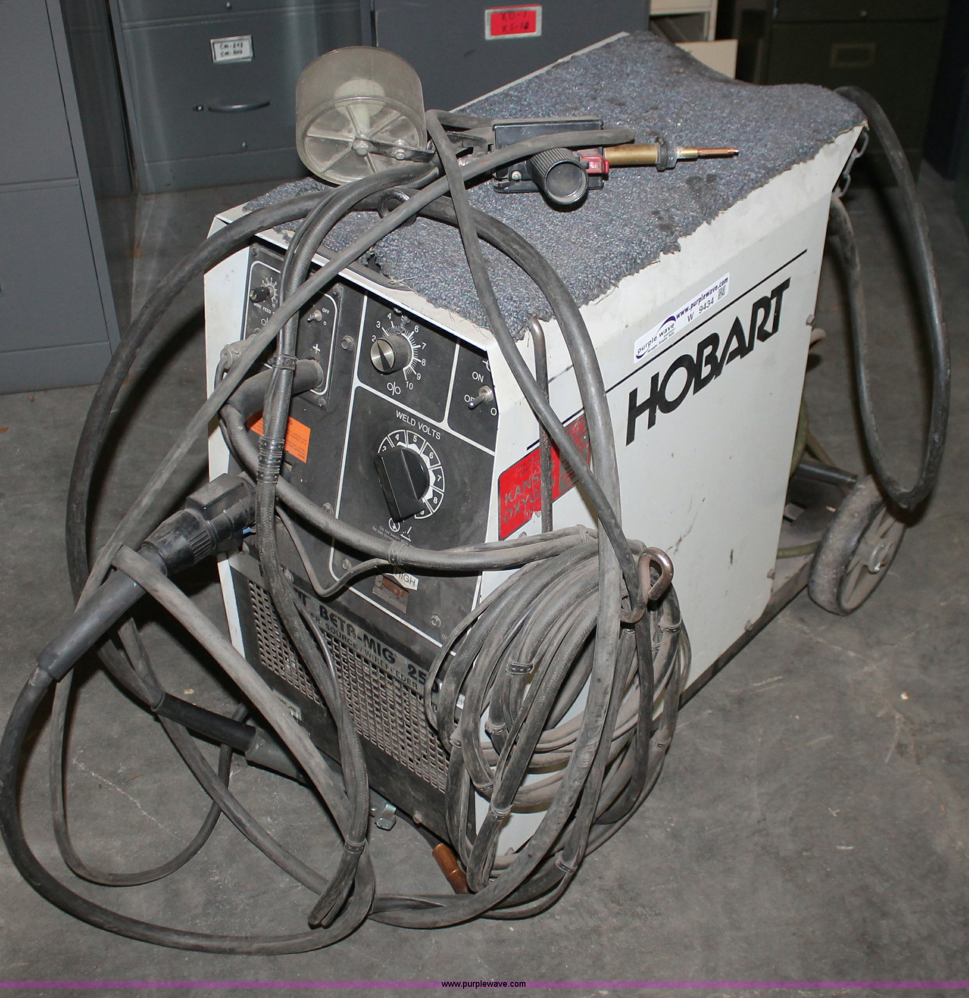 W9434 hobart beta mig 250 cv power source wire feed welder item