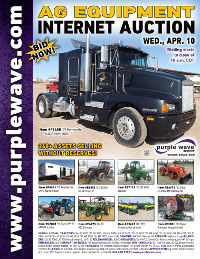View April 10 Ag Equipment Auction flyer