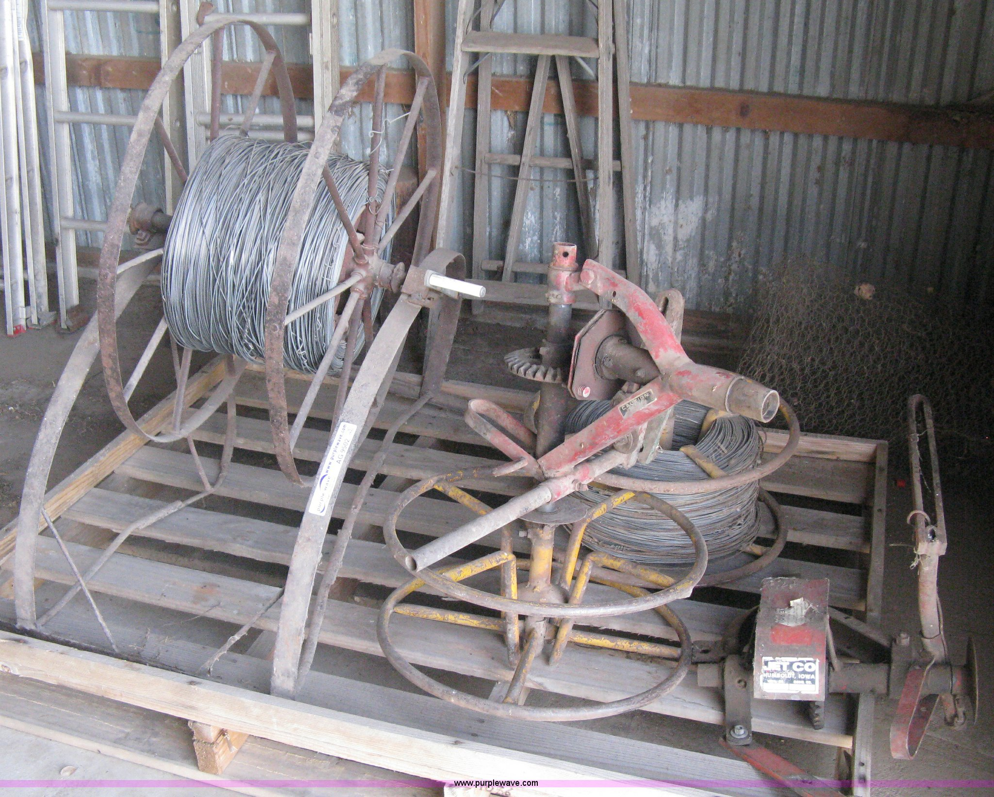 3 Electric Fence Wire Winders Item Ag9502 Sold