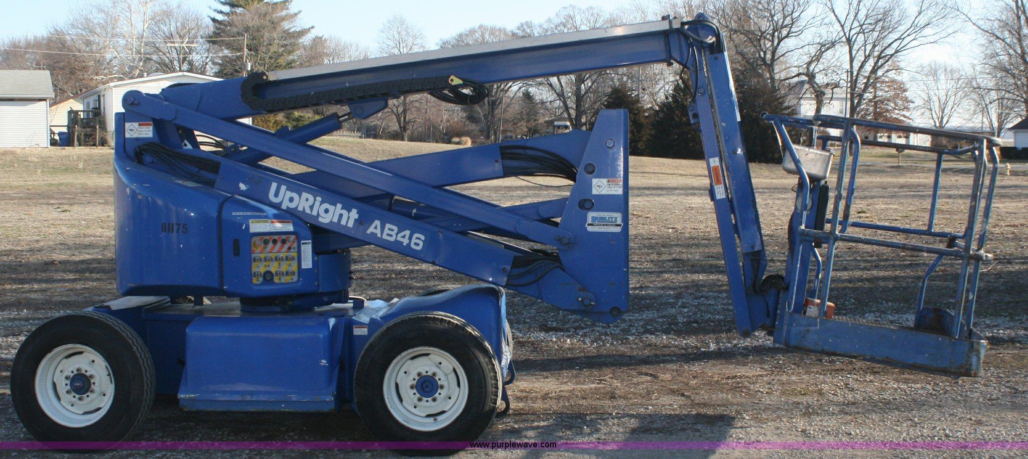 1999 upright ab46 boom lift item f2561 sold april 11 co rh purplewave com