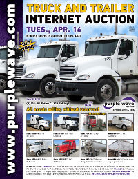 View April 16 Truck and Trailer Auction flyer