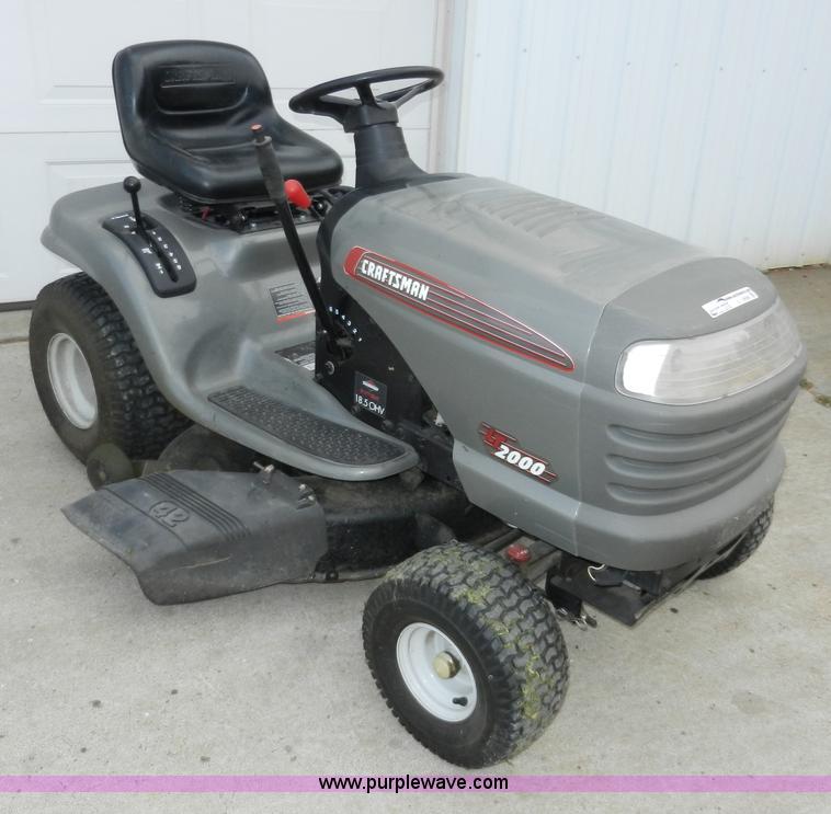 Sears Craftsman Lt2000 Lawn Mower
