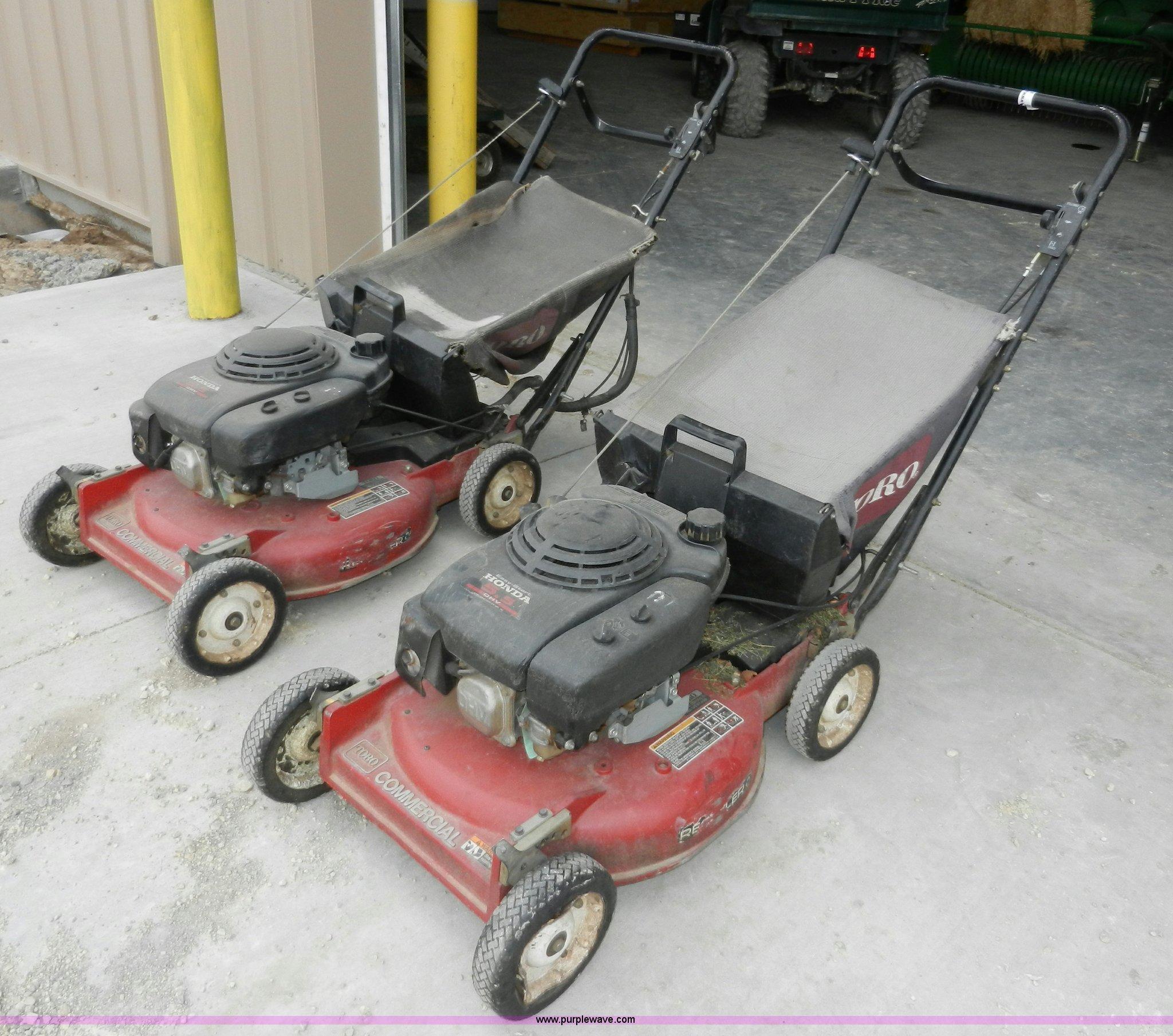 2) Toro commercial push mowers   Item X9610   SOLD! April 1