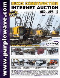Ruzic Construction auction flyer