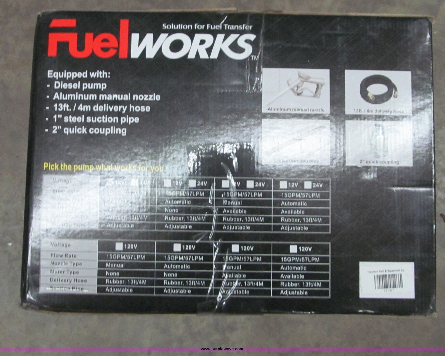 Fuel Works Electric Pump Item G2572 Sold April 17 How Full Size In New Window