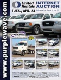 View April 23 United Rentals Auction flyer