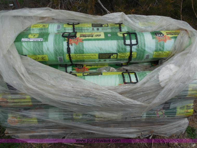 8) John Deere bale bind net wrap rolls | Item AG9863 | SOLD