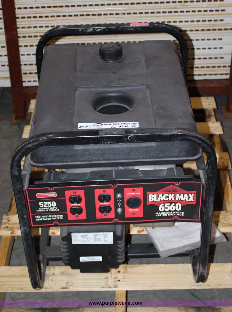 Black Max 6560 generator | Item AJ9738 | SOLD! April 30 TAP
