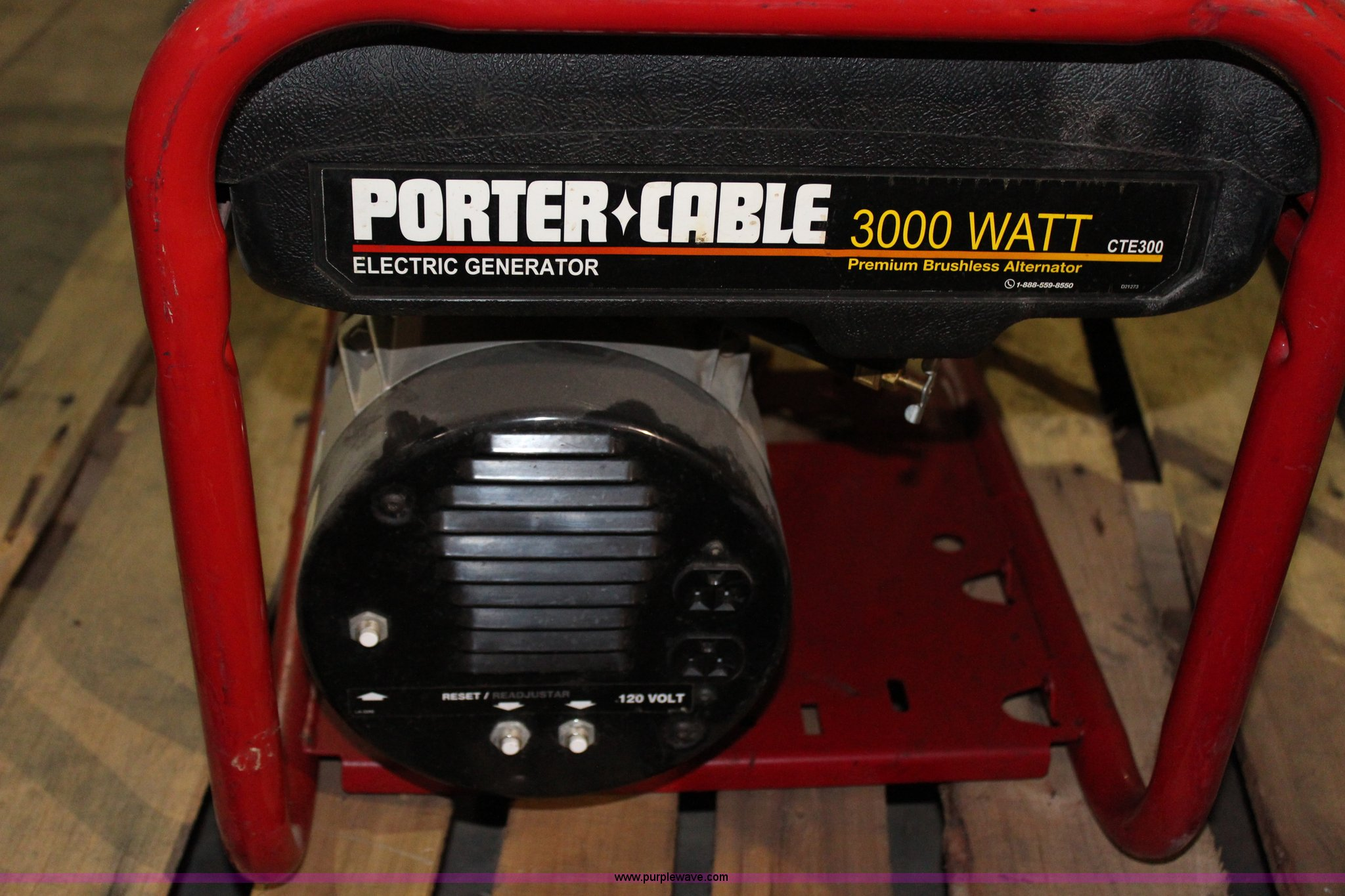 Porter Cable 3 000 Watt Generator In Spring Hill Ks Item Ak9301 Sold Purple Wave