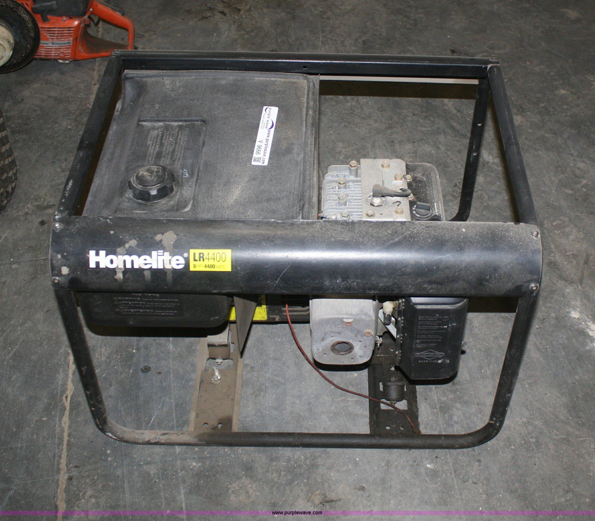 Stupendous Homelite Lr4400 Generator Item V9666 Sold May 1 Midwest Interior Design Ideas Gresisoteloinfo