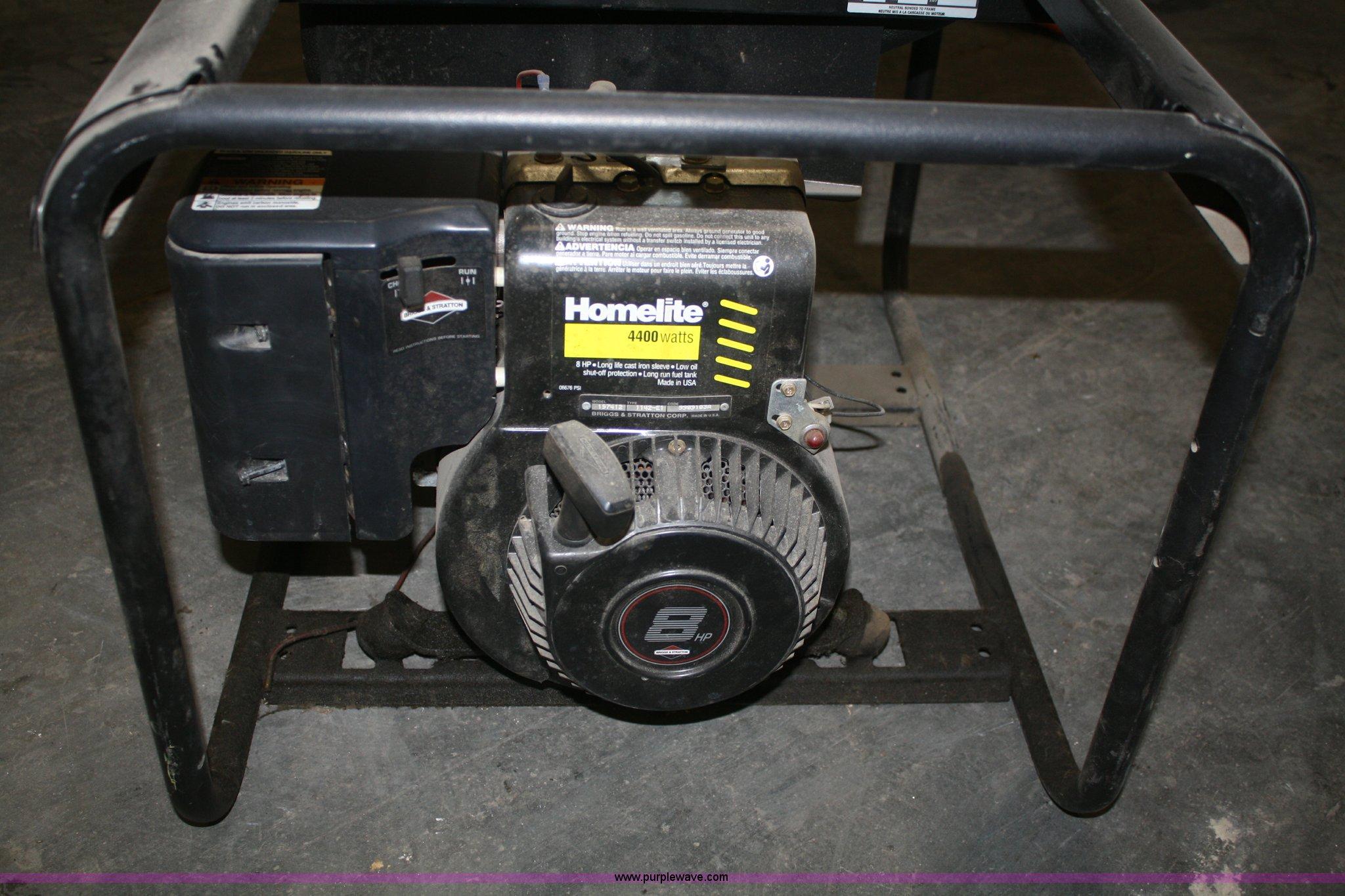 Enjoyable Homelite Lr4400 Generator Item V9666 Sold May 1 Midwest Interior Design Ideas Gresisoteloinfo