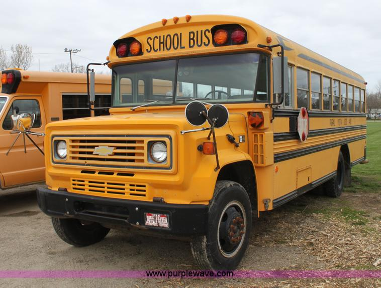1990 Chevrolet School Bus No Reserve Auction On Tuesday