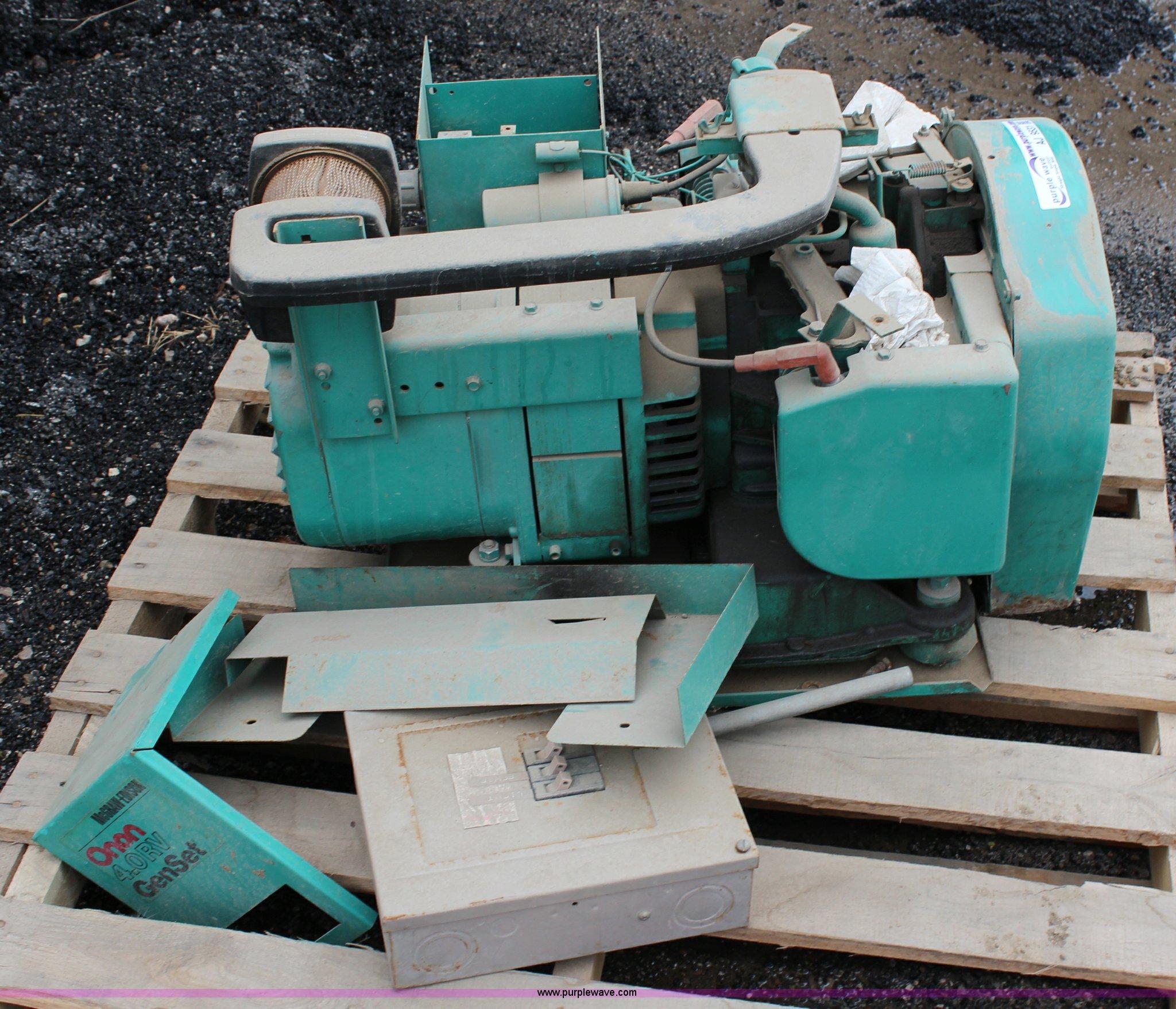 Onan generator   Item AJ9531   SOLD! May 7 Government Auctio
