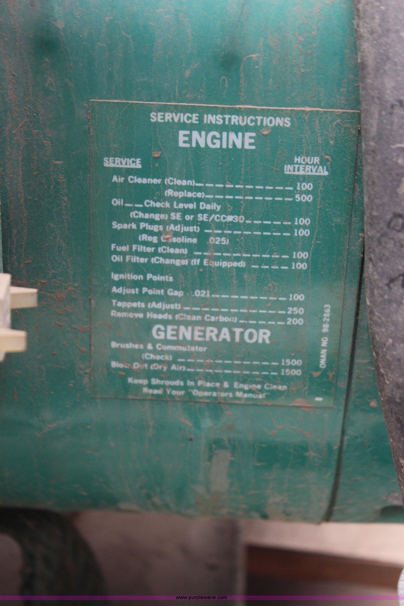 Onan generator | Item AJ9531 | SOLD! May 7 Government Auctio