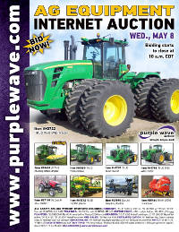 View May 8 Ag Equipment Auction flyer