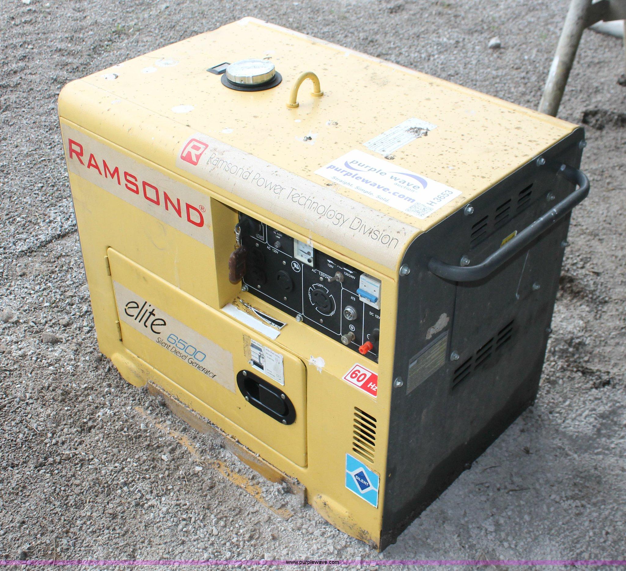 Ramsond Elite 6500 silent generator Item H3653