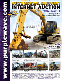 View May 22 North Central Construction Equipment Auction flyer