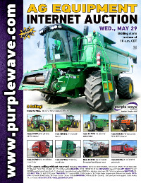 View May 29 Ag Equipment Auction flyer
