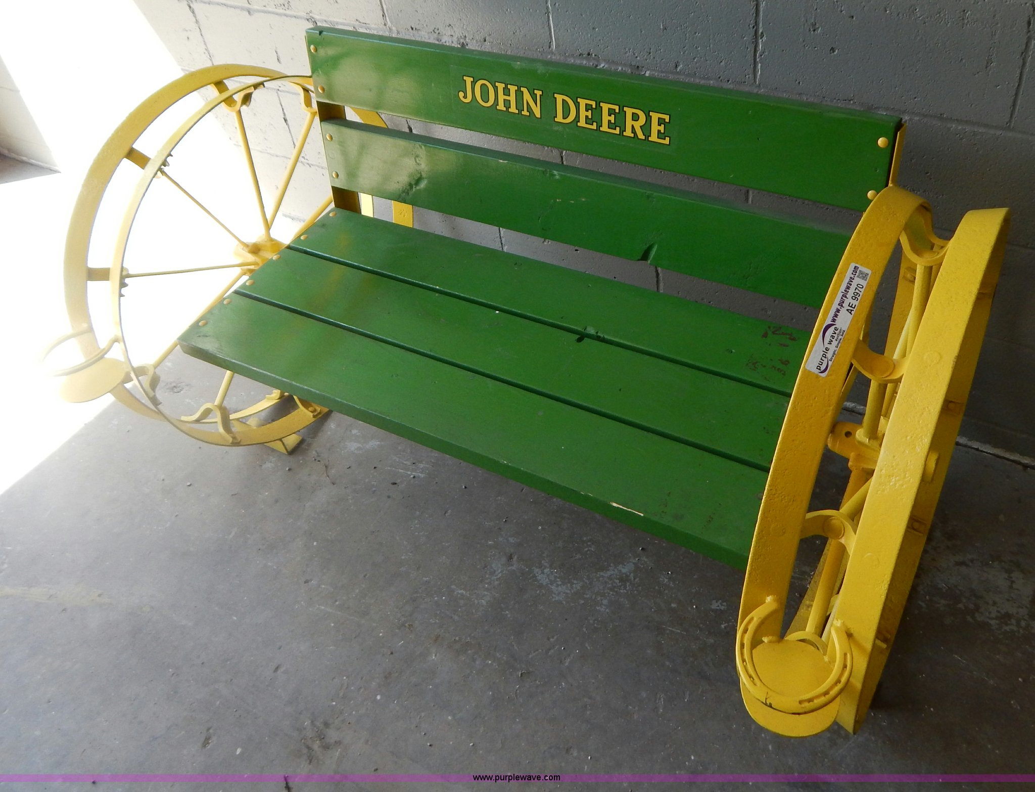 John Deere Gifts >> Shop Built John Deere Bench Item Ae9970 Sold May 29 Mid