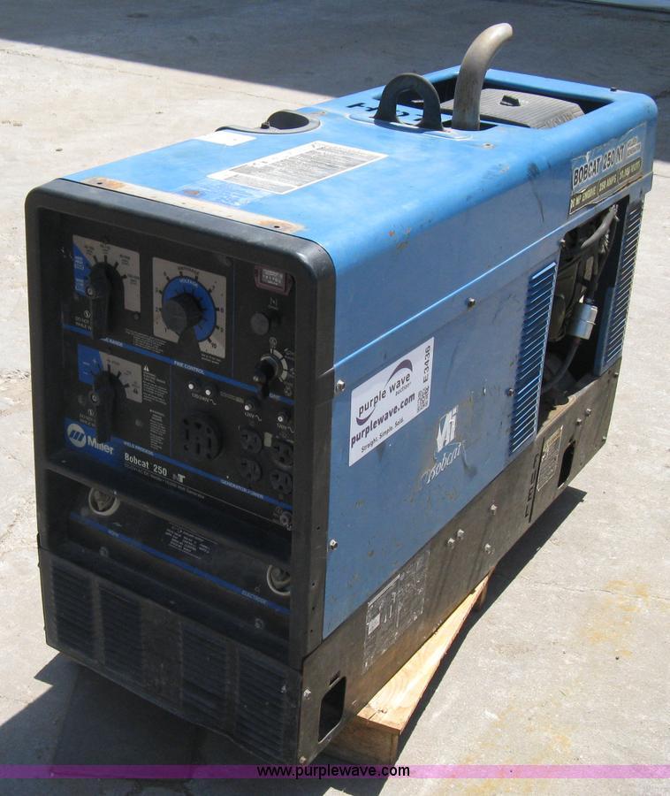 NEW Miller Arc Welder Laser Cut Aluminum Bobcat 250D NT Control Plate