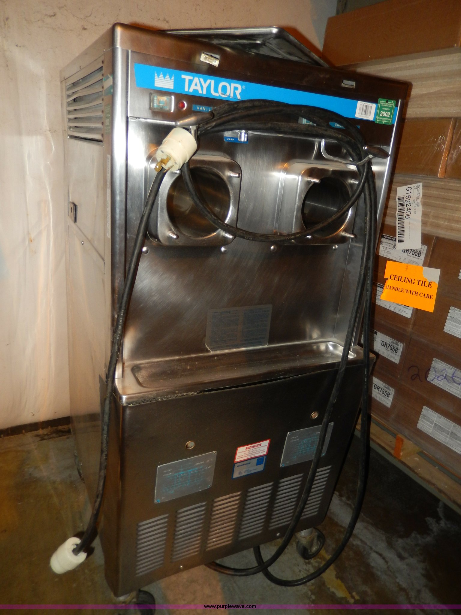AA9979 Image For Item Taylor Dual Ice Cream Machine