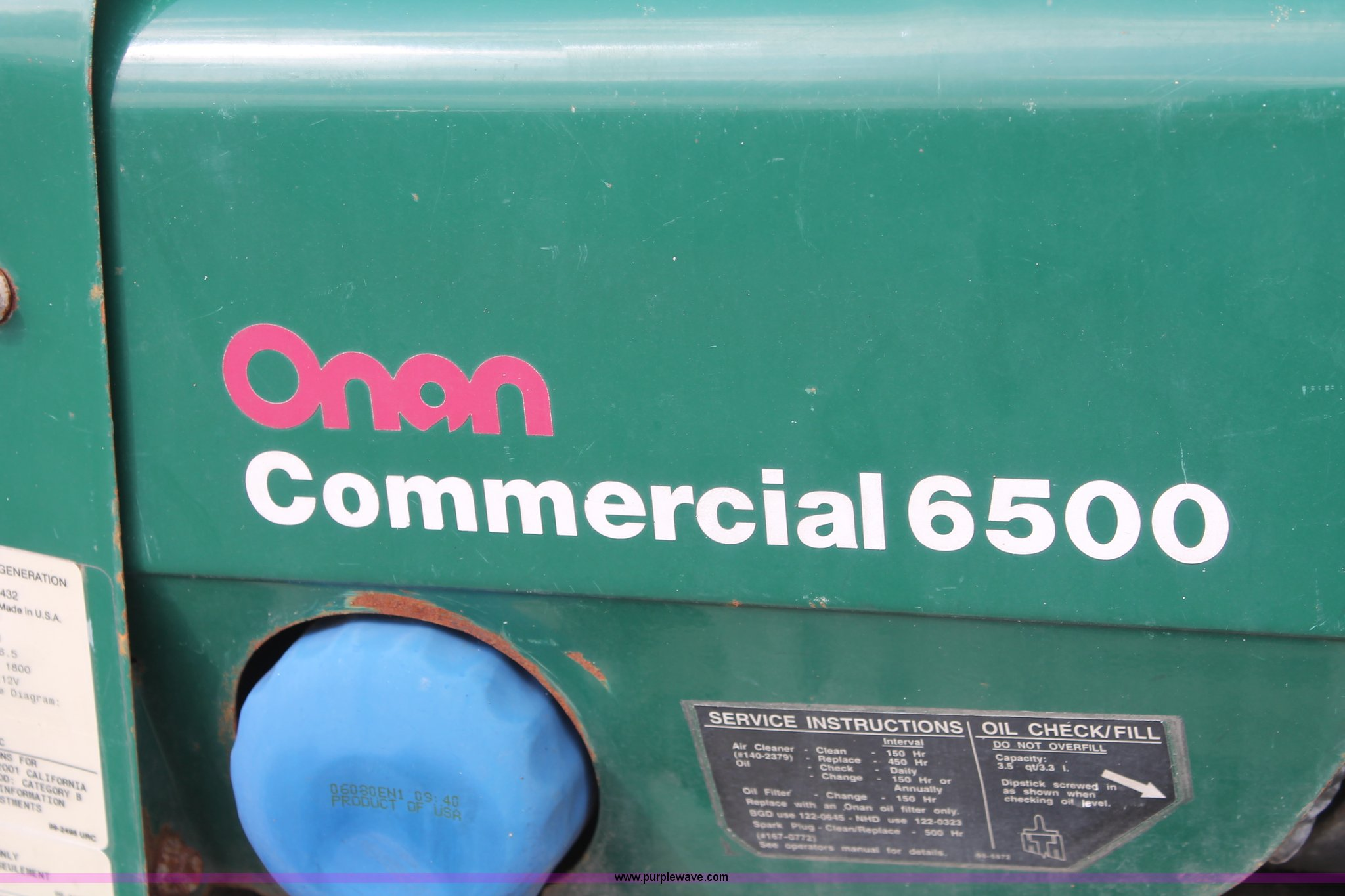 onan commercial 6500 engine manual