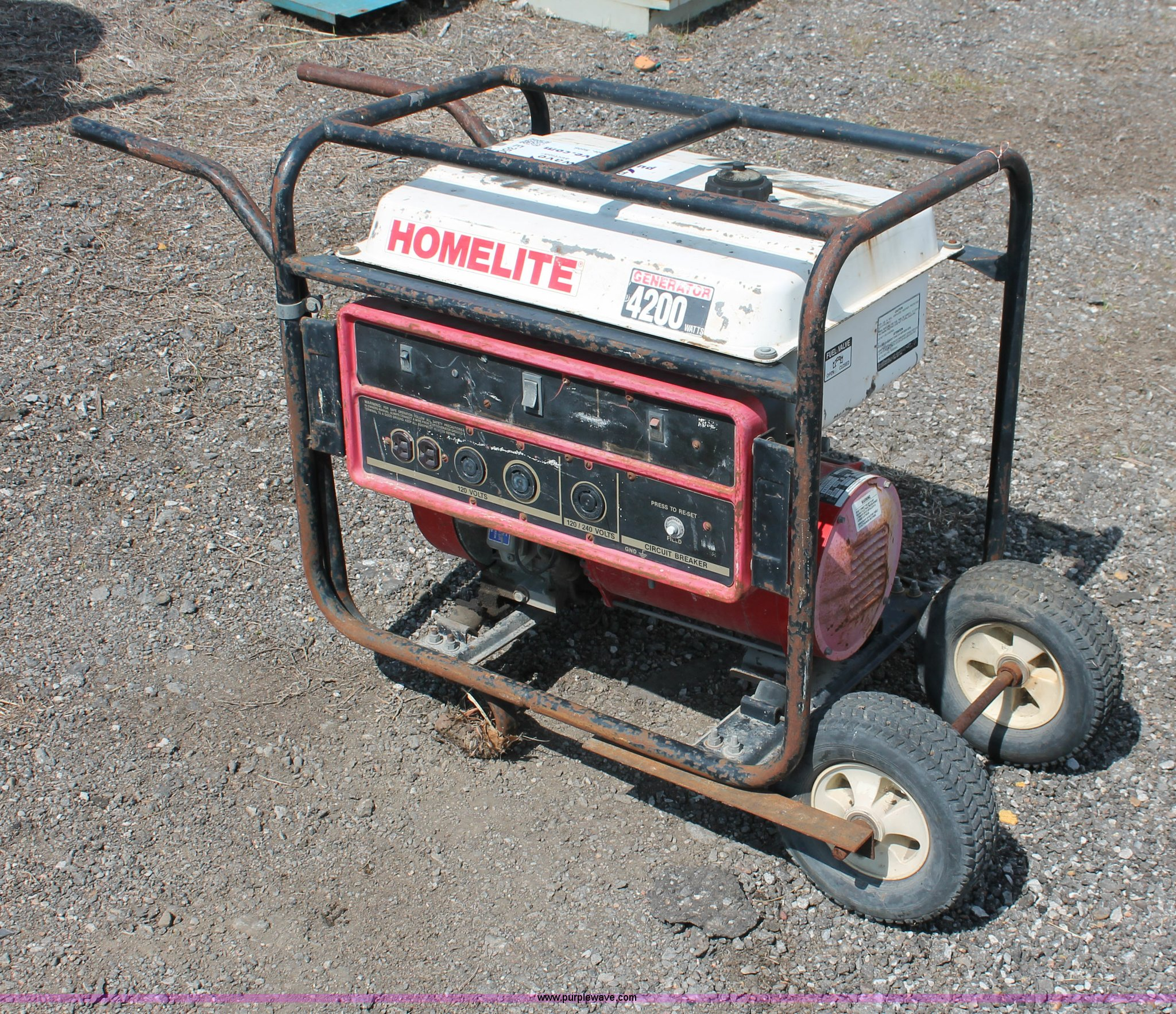 Homelite 4200 Generator Manual Wiring Diagram 4 200 Watt Item E3500 Sold June 5 Ci Rh Purplewave Com 5500