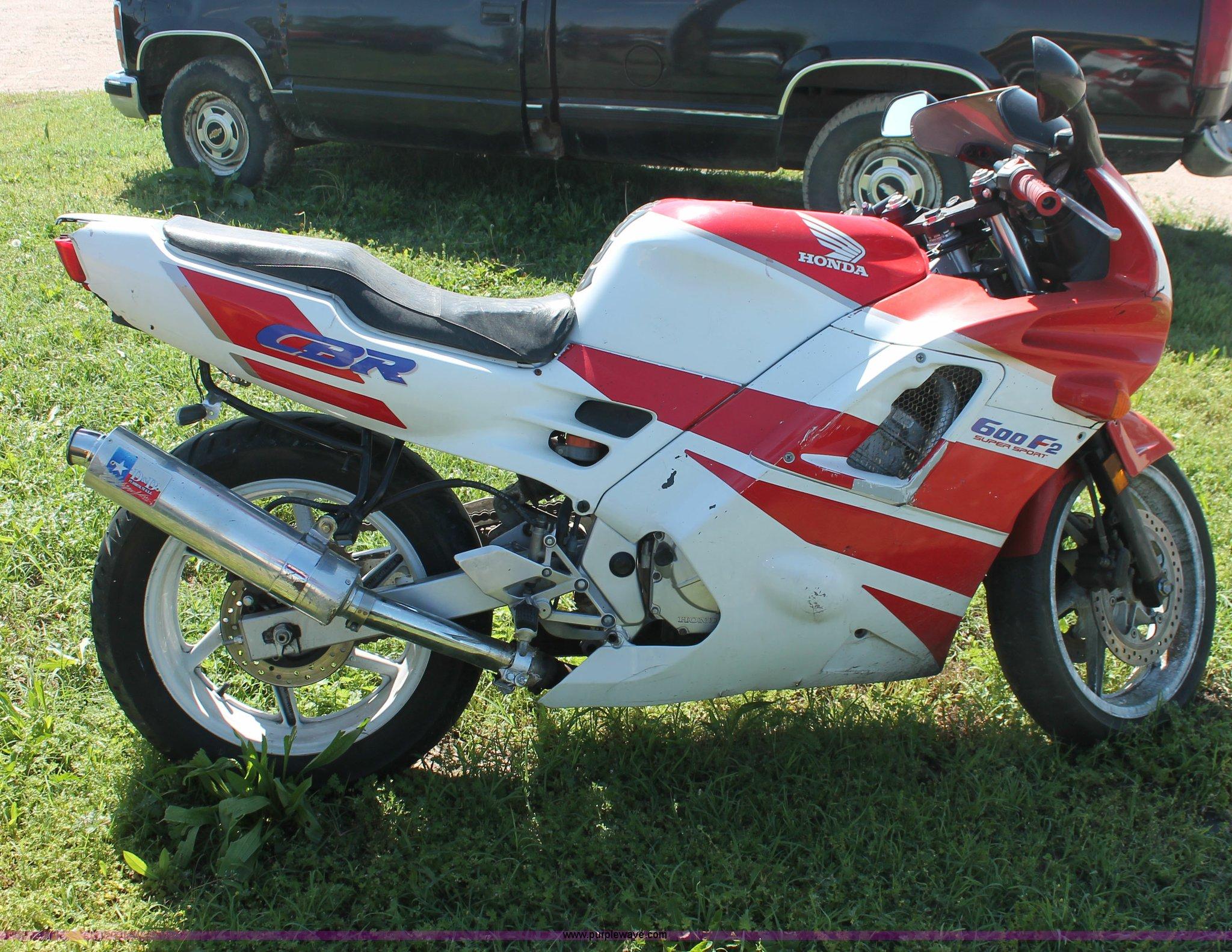 1991 Honda Cbr600f2 Super Sport Motorcycle In Wichita Ks Item H3557 Sold Purple Wave