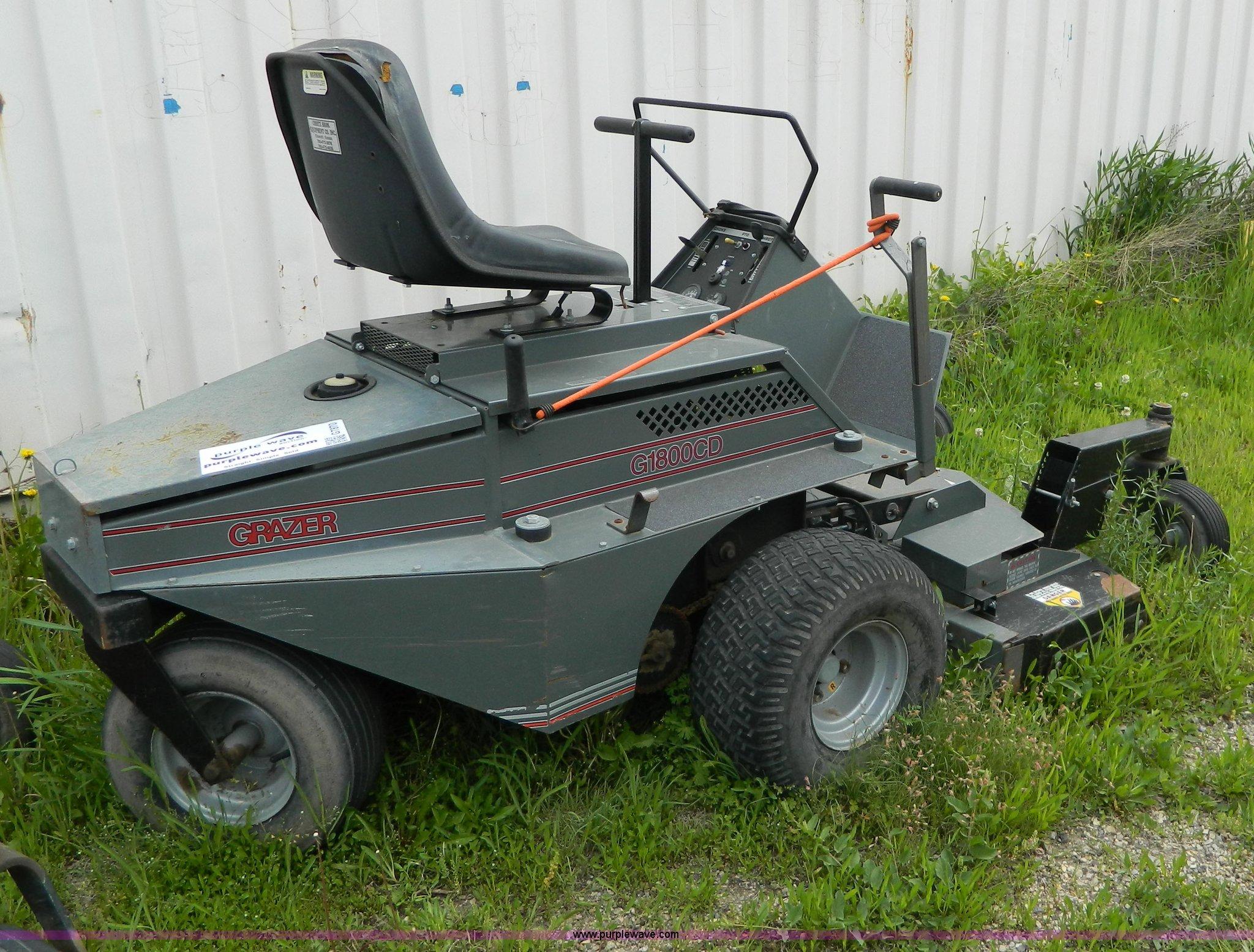 grazer g1800c lawn mower item g7870 sold june 12 ag equ rh purplewave com Grazer Mower Parts Diagram Grazer Mower 52