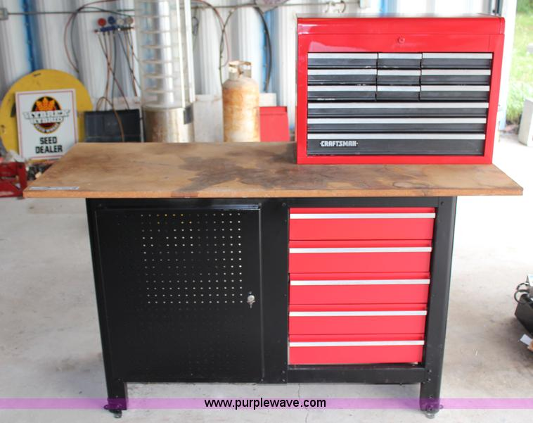 Awesome Craftsman Work Bench With Toolbox Item X9454 Sold June Beatyapartments Chair Design Images Beatyapartmentscom