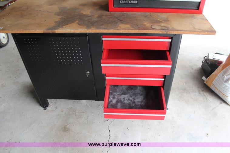 ... X9454 Image For Item X9454 Craftsman Work Bench With Toolbox