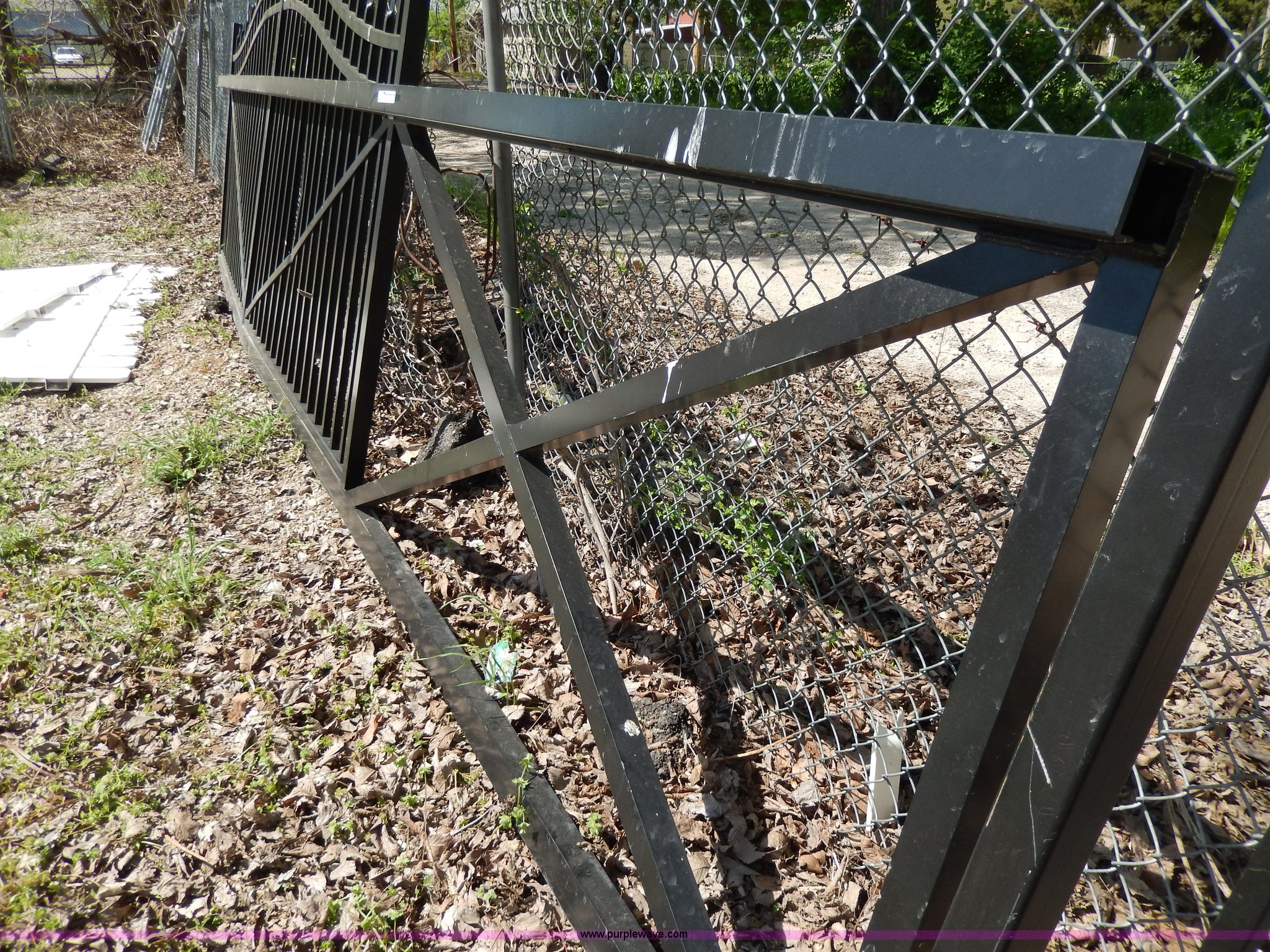 designer square tube metal fence item aa9945 sold june