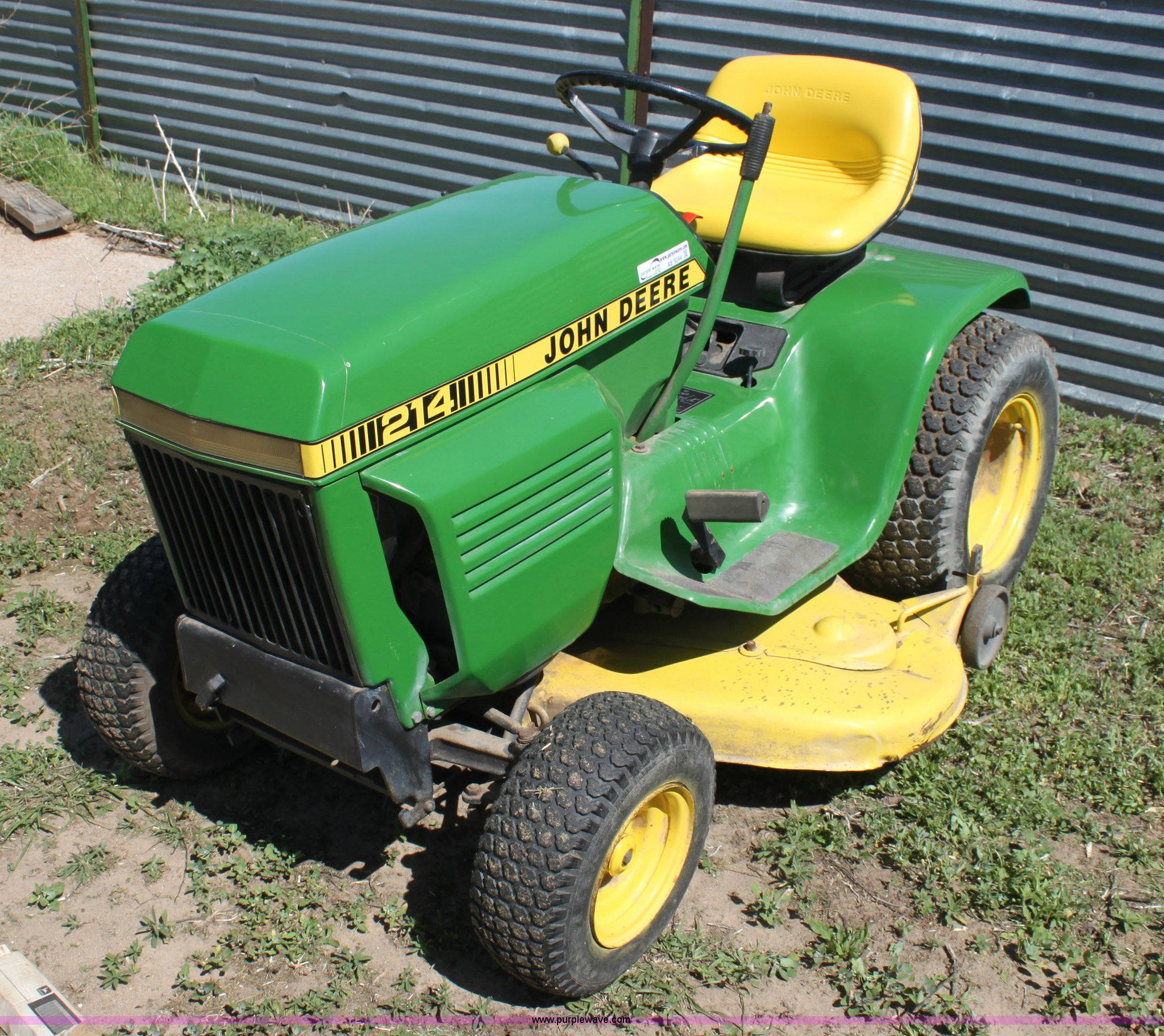 John Deere 214 >> John Deere 214 Lawn Mower Item Ae9244 Sold June 12 Midw