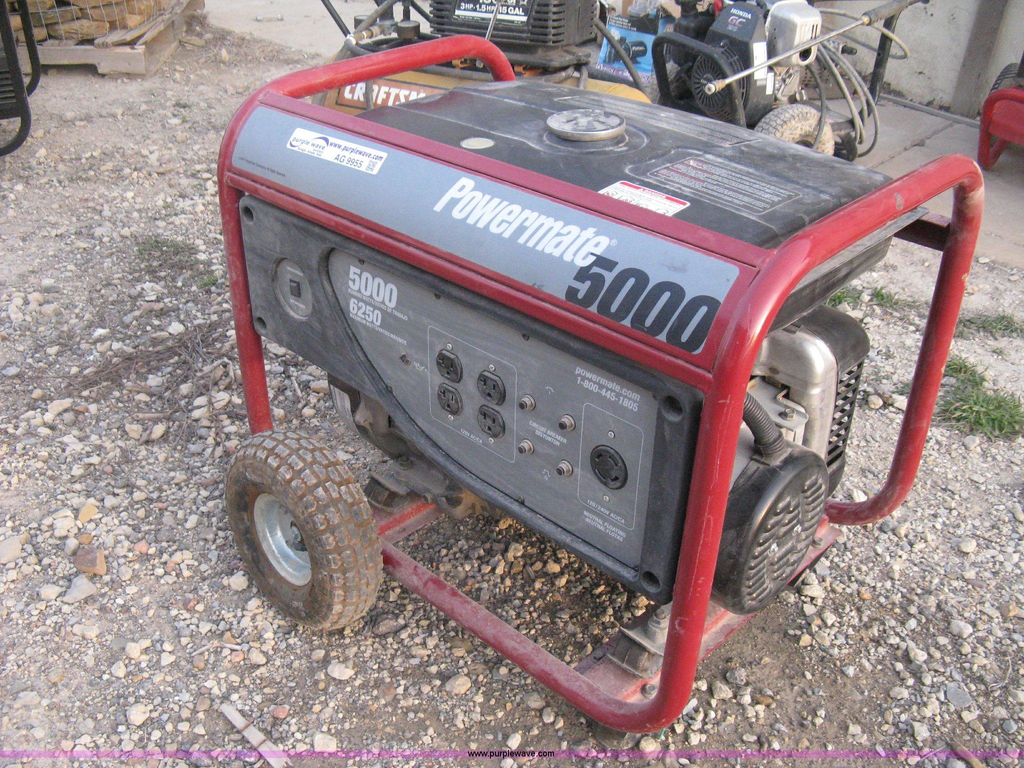 Coleman Powermate 5000 portable generator Item AG9955