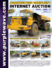 View June 13 Construction Equipment Auction flyer