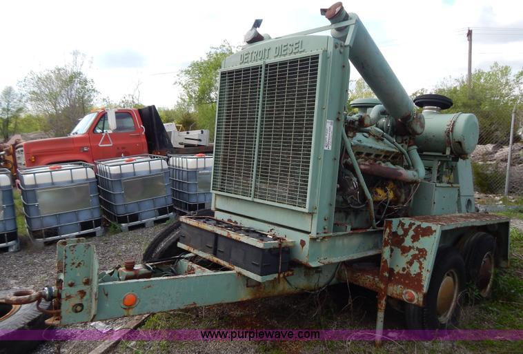 Detroit Diesel V12 Twin Turbo Portable Generator In Kansas City Mo Item G3198 Sold Purple Wave