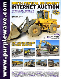View June 20 North Central Construction Equipment Auction flyer