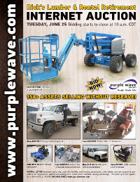View June 25 Rick's Lumber and Rental Retirement Auction flyer