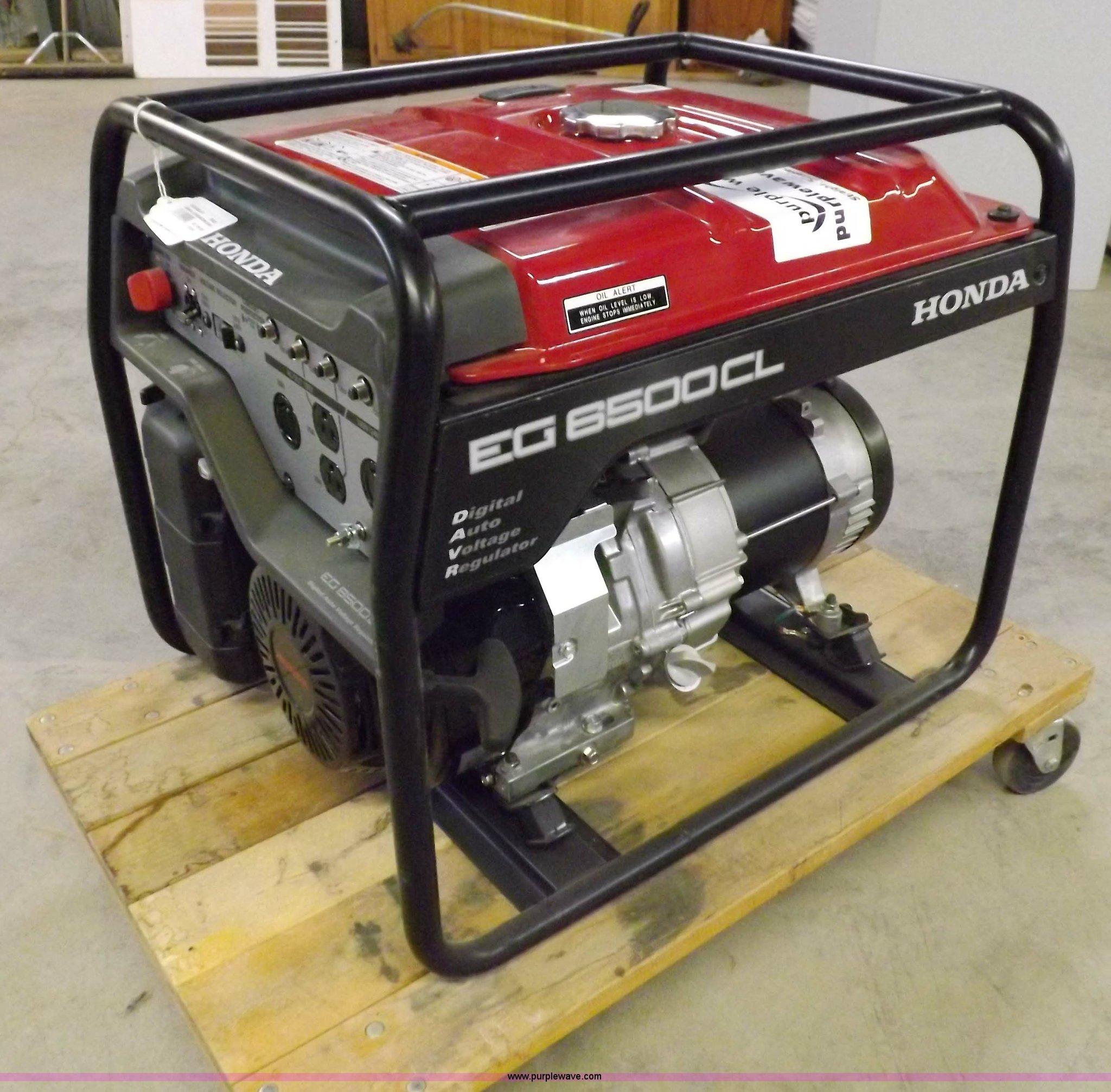 Honda EG6500CL 6 5 kW generator Item H7104