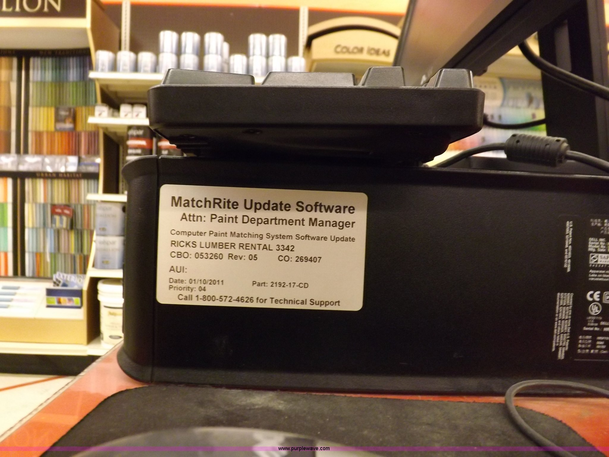 Valspar paint mixing station and display | Item J9209 | SOLD