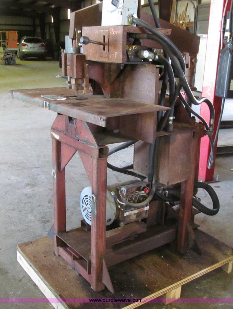 Shop built hydraulic punch press   Item D7410   SOLD! June 2