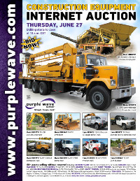 View June 27 Construction Equipment Auction flyer
