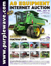 View July 10 Ag Equipment Auction flyer