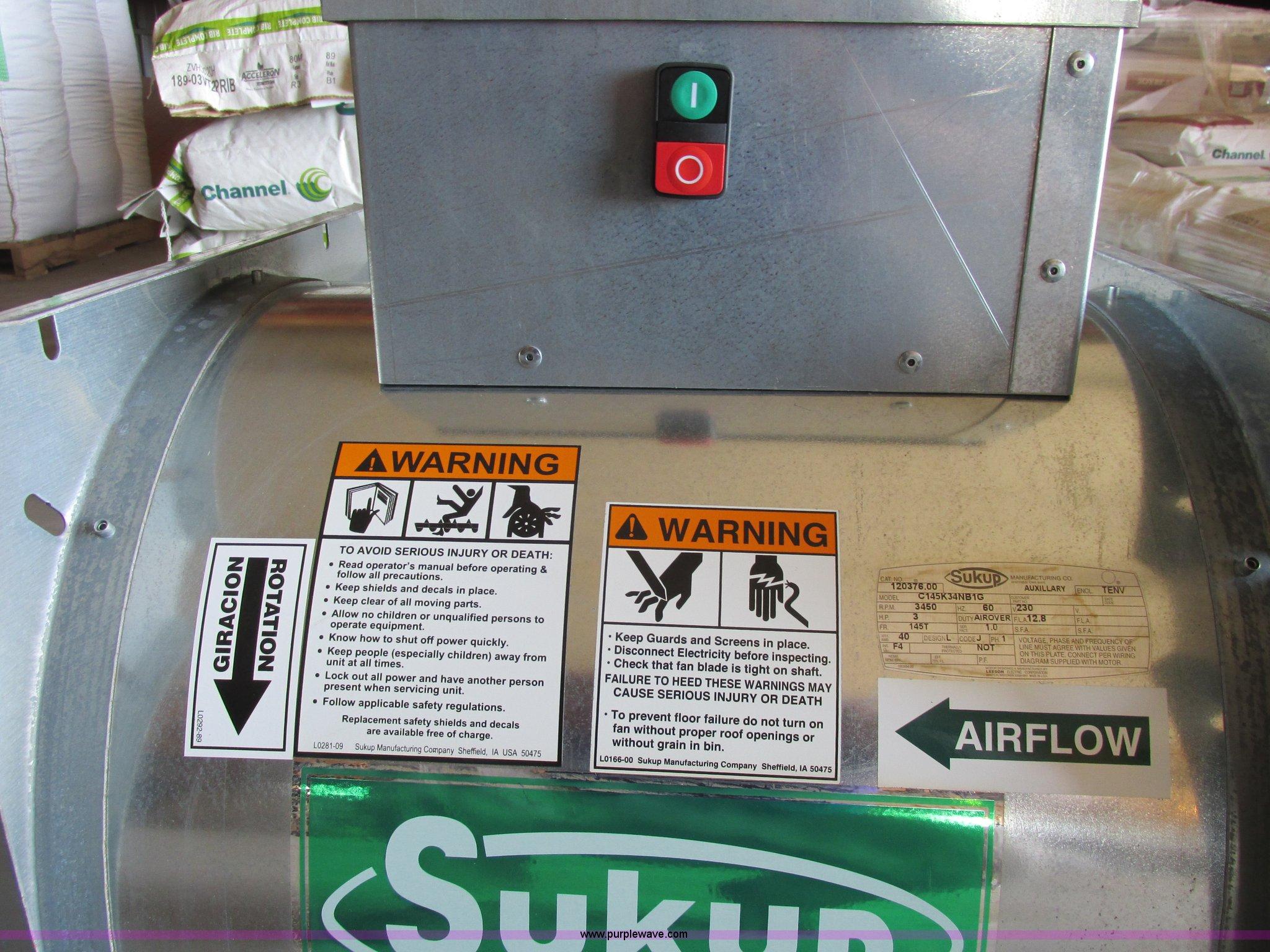 Sukup Grain Bin Fan Item A8565 Sold July 10 Ag Equipmen 220v Wiring Diagram Full Size In New Window