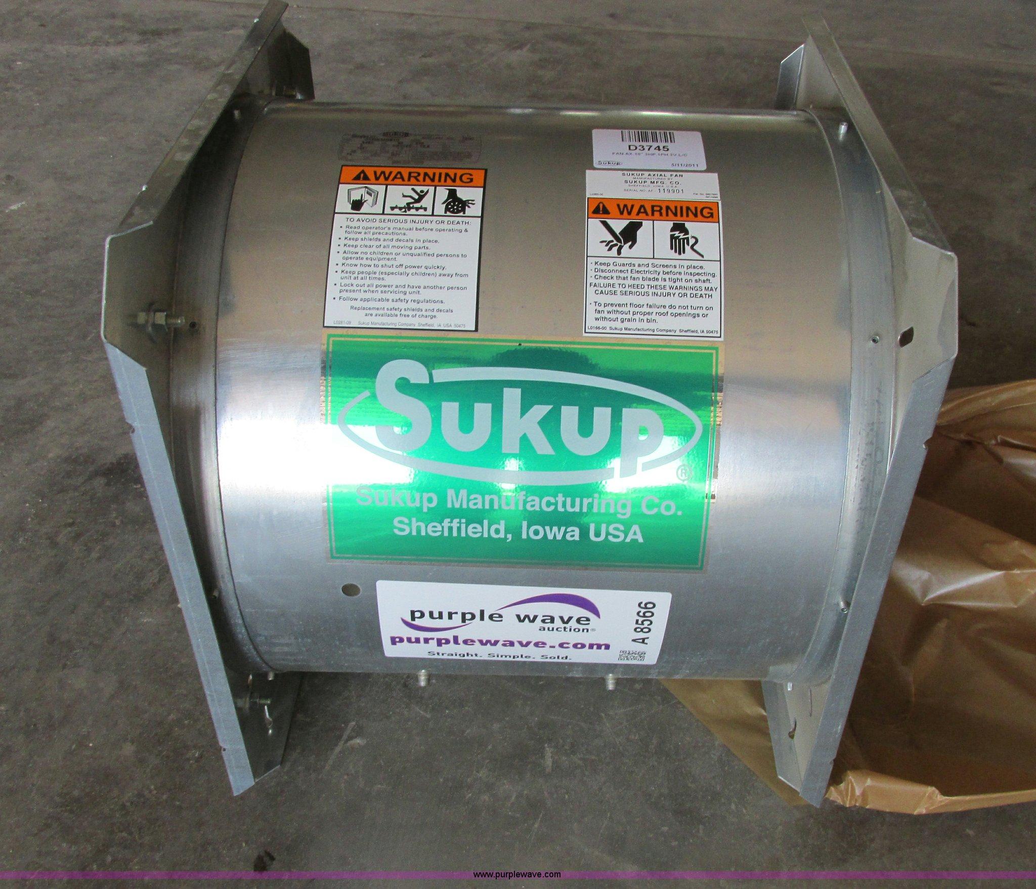 Sukup Parts Manual 220v Wiring Diagram 2 4 Array Grain Bin Fan Item A8566 Sold July 10 Ag Equipmen Rh Purplewave Com