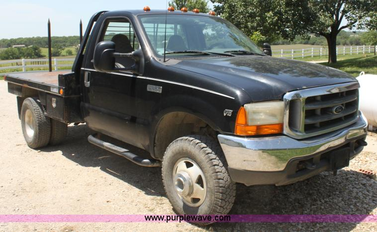 1999 Ford F350 Xlt Flatbed Truck Item H7476 Sold July 1