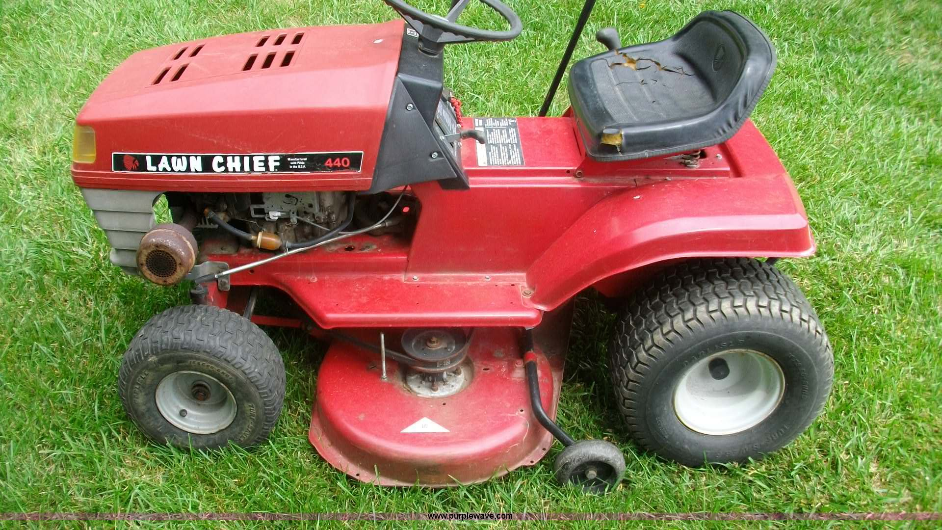 ... Lawn Chief 440 riding mower Full size in new window ...