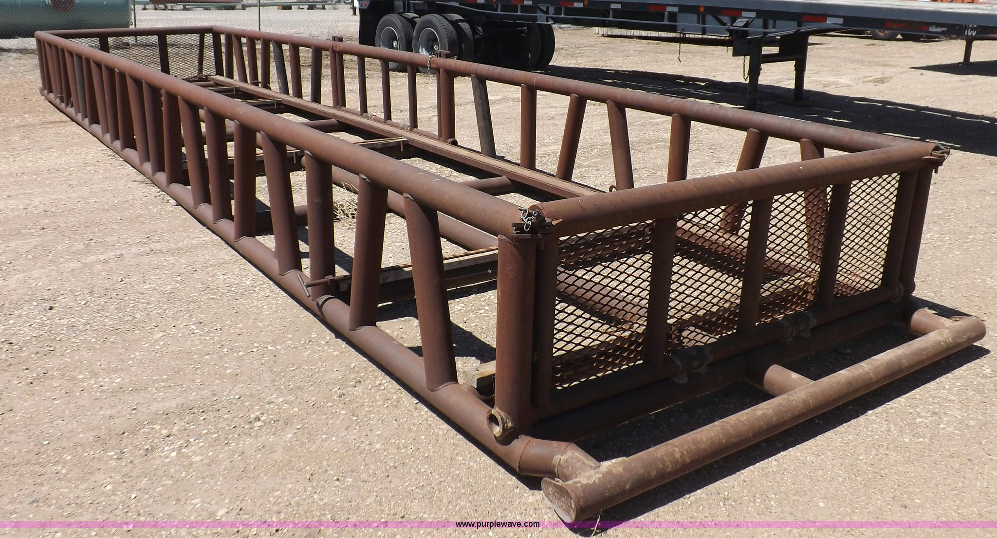 Oilfield pipe basket/skid | Item F8731 | SOLD! July 11 Const