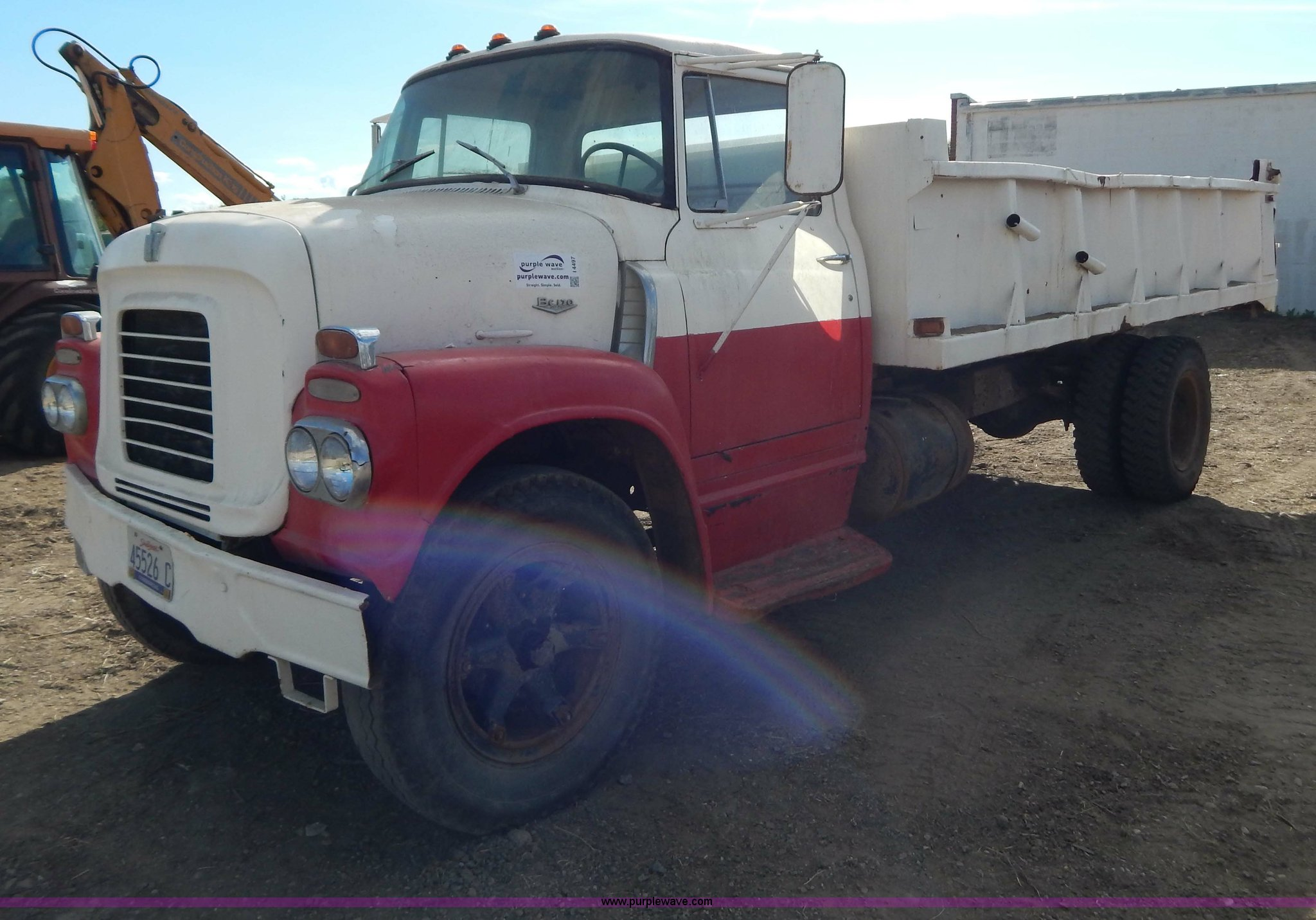 1961 International Bc170 Dump Truck Item I4497 Sold Con Ford Image For