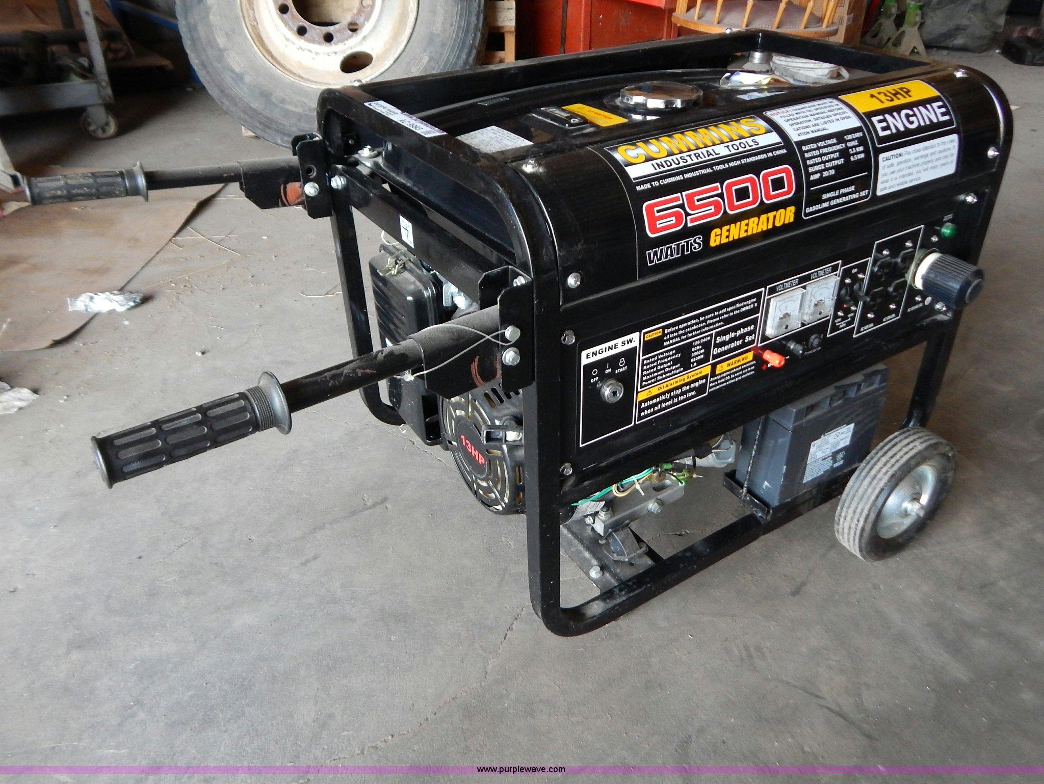 cummins 6 500 watt generator item ac9993 sold july 24 v rh purplewave com cummins generators manual pdf Cummins 1 Meg Generator